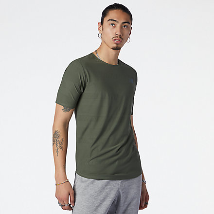 NB Q Speed Jacquard Short Sleeve, MT13277NSE image number null