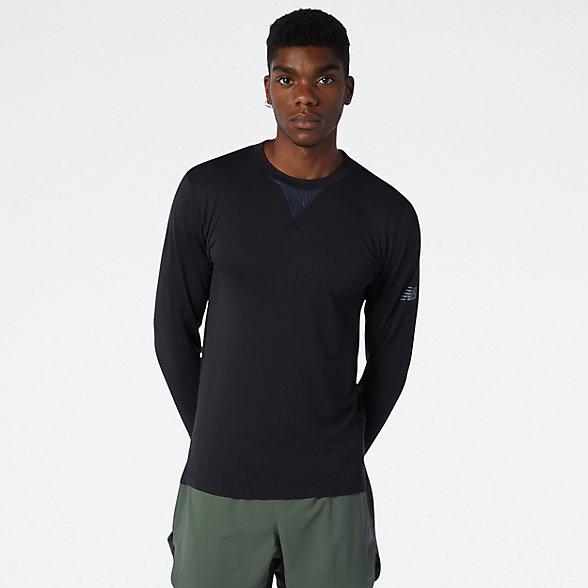 New Balance 男款保暖运动上衣, MT13290BK