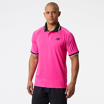 New Balance Tournament Polo, MT13401PGL image number null