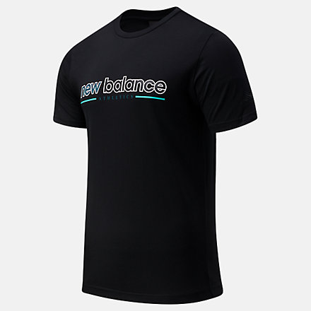 New Balance NB Athletics Higher Learning Tee, MT13500BK image number null