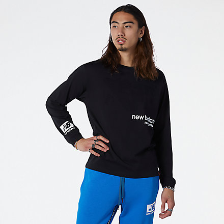NB T-Shirt NB Essentials Winterized Long Sleeve, MT13536BK image number null