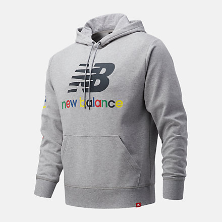 New Balance NB Essentials Colorful Hoodie, MT13921AG image number null