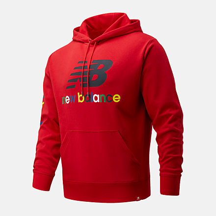 New Balance NB Essentials Colorful Hoodie, MT13921REP image number null