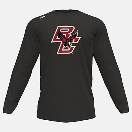 New Balance Long Sleeve Tech Tee(Boston College), MT501BCBTBK image number null