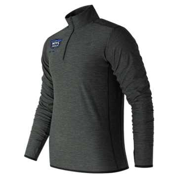 New Balance United Airlines NYC Half Finisher N Transit Quarter Zip, Heather Charcoal