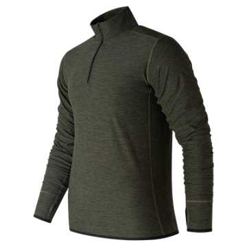 New Balance N Transit Quarter Zip, Dark Covert Green