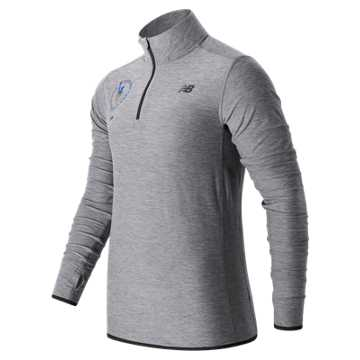 New Balance NYC Marathon N Transit Quarter Zip, Athletic Grey