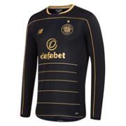 NB Celtic Mens Away Long Sleeve Shirt, Black