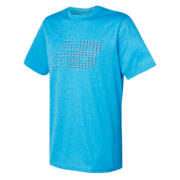 NB Tech Training Visaro Graphic Short Sleeve Shirt , Polaris Heather