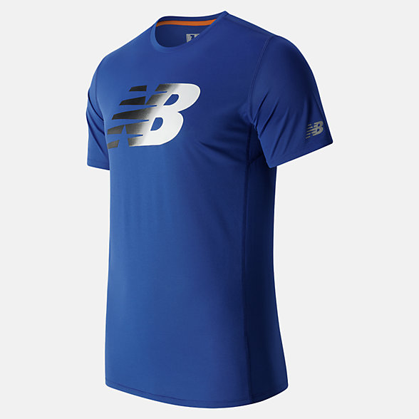 New Balance Accelerate SS Graphic Top, MT63066MIB