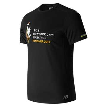 New Balance NYC Marathon Finisher NB Ice Short Sleeve, Black with Imperial