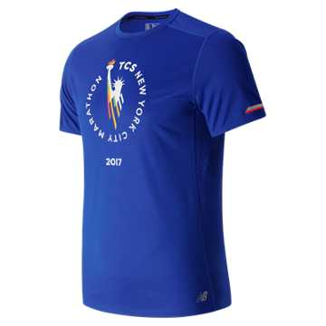 New Balance NYC Marathon NB Ice Short Sleeve, Team Royal