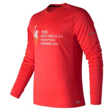 New Balance NYC Marathon Finisher NB Ice Long Sleeve, Red