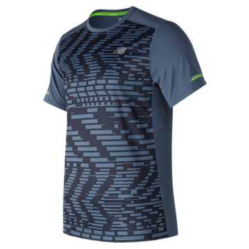 New Balance NB Ice Printed Short Sleeve, Exploded Glitch with Vintage Indigo