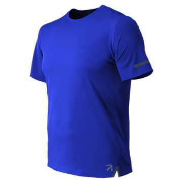 New Balance J. Crew NB Ice 2.0 Short Sleeve Tee, UV Blue