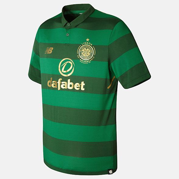 New Balance Celtic Mens Away SS Jersey, MT730045VDG