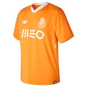 New Balance FC Porto Mens Away Short Sleeve Jersey, Flame Orange