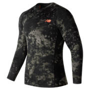 NB Aeronamic Printed Long Sleeve, Military Dark Triumph with Heat Zone Camo