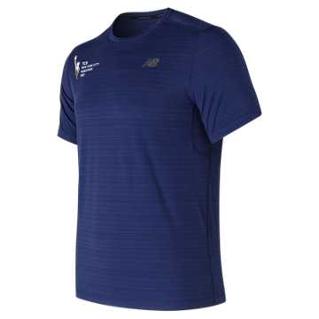 New Balance NYC Marathon Fantom Force Short Sleeve Top, Pigment
