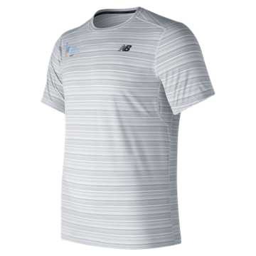 New Balance NYC Marathon Fantom Force Short Sleeve Top, White