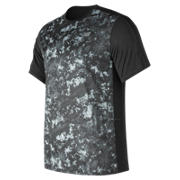 NB Accelerate Short Sleeve Graphic , Black with Arctic Camo
