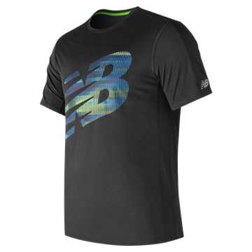 New Balance Accelerate Short Sleeve Graphic, Black