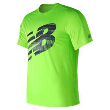 New Balance Accelerate Short Sleeve Graphic, Energy Lime