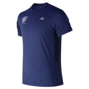 New Balance United NYC Half Accelerate Training Short Sleeve, Techtonic Blue