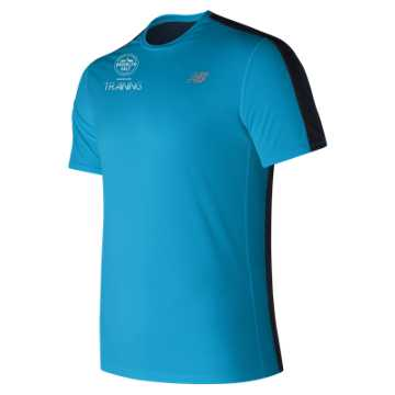 New Balance Brooklyn Half Training Accelerate Short Sleeve, Maldives Blue