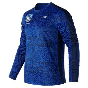 New Balance United NYC Half Training Accelerate Graphic LS, Team Royal
