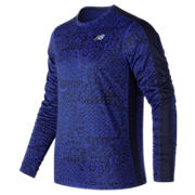 NB Accelerate Graphic Long Sleeve, Team Royal with Shattered Print
