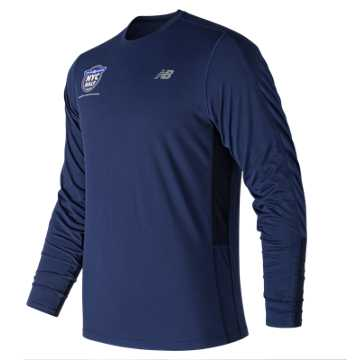 New Balance United NYC Half Accelerate Training Long Sleeve, Techtonic Blue