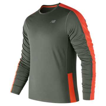 New Balance Accelerate Long Sleeve, Military Foliage Green