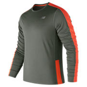 NB Accelerate Long Sleeve, Military Foliage Green