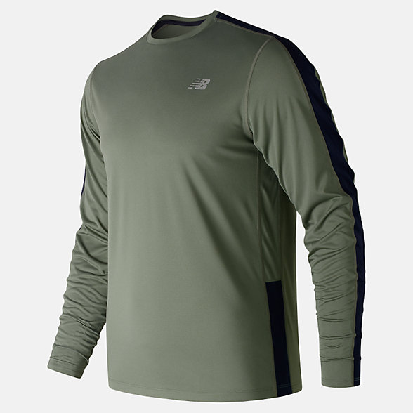 New Balance Accelerate Long Sleeve, MT73063MGN