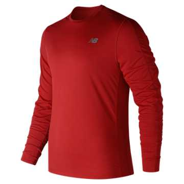 New Balance Accelerate Long Sleeve, Red Pepper