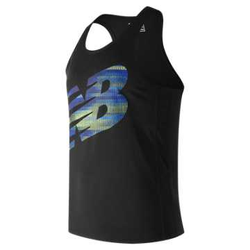 New Balance Accelerate Graphic Singlet, Black