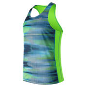 NB Accelerate Graphic Singlet, Bolt with Scramble Stripe