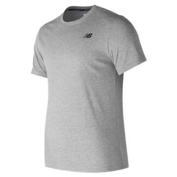 New Balance Heather Tech Short Sleeve, Athletic Grey