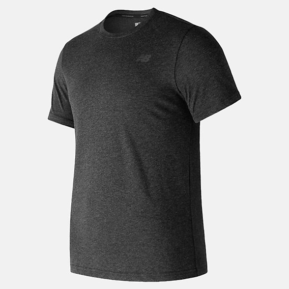 New Balance Heather Tech Short Sleeve, MT73080BKH