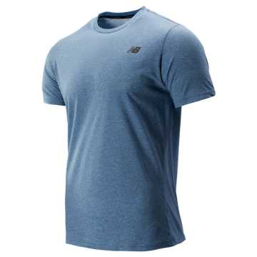 New Balance Heather Tech Short Sleeve, Chambray