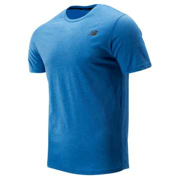 New Balance Heather Tech Short Sleeve, Lapis Blue