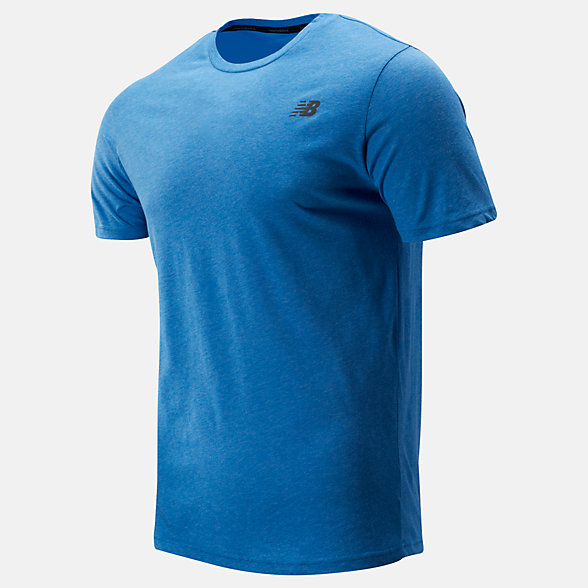 New Balance Heather Tech Short Sleeve, MT73080LBE