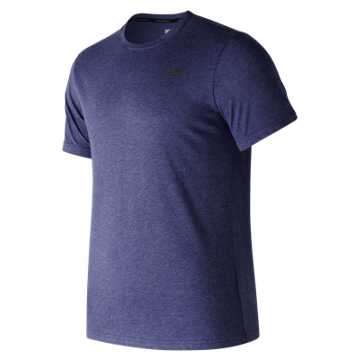 New Balance Heather Tech Short Sleeve, Pigment