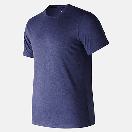 New Balance Heather Tech Short Sleeve, MT73080PGM image number null