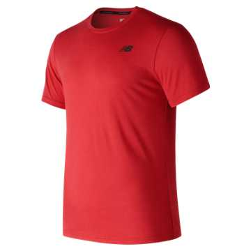 New Balance Heather Tech Short Sleeve, Red Pepper