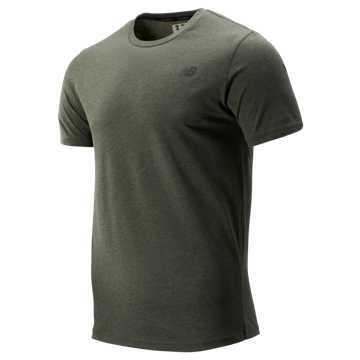 New Balance Heather Tech Short Sleeve, Slate Green