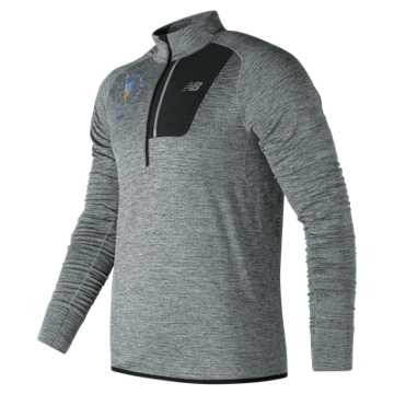 New Balance NYC Marathon NB Heat Half Zip, Athletic Grey