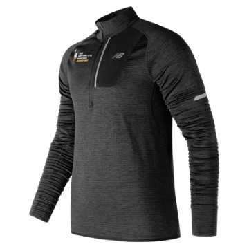 New Balance NYC Marathon Finisher NB Heat Half Zip, Black