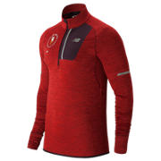 NB NYC Marathon NB Heat Half Zip, Team Red Heather